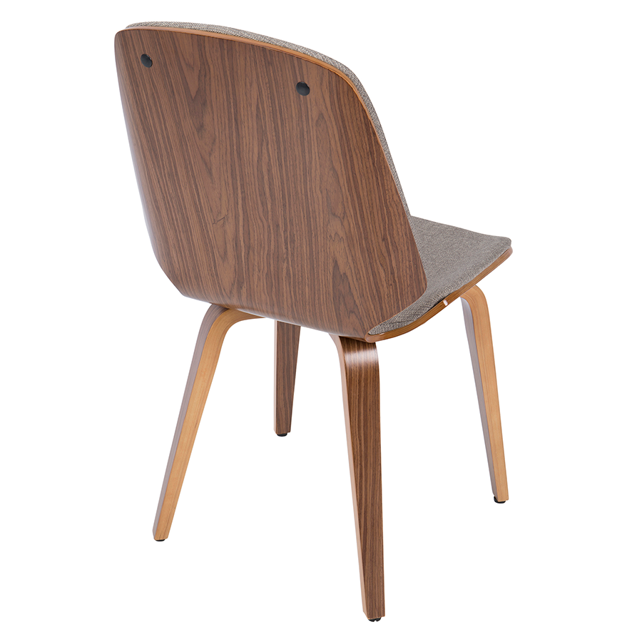 Satchel Gray + Walnut Contemporary Side Chair
