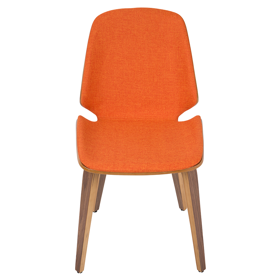 Satchel Orange Contemporary Chair