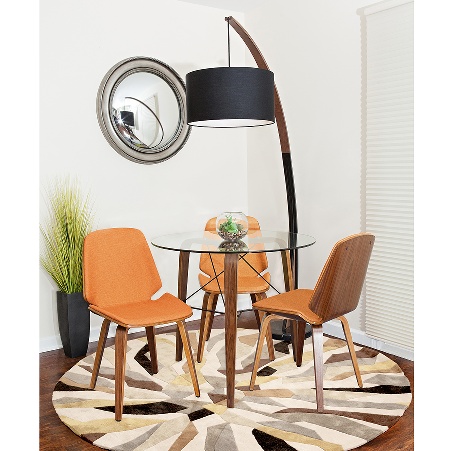 Satchel Modern Side Chair with Nathaniel Lamp and Tatum Dining Table