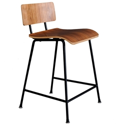 School Contemporary Counter Stool by Gus Modern in Walnut