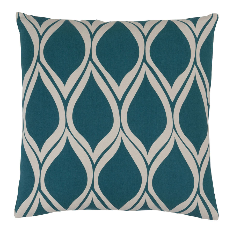 "Scout 18"" Teal Modern Pillow"
