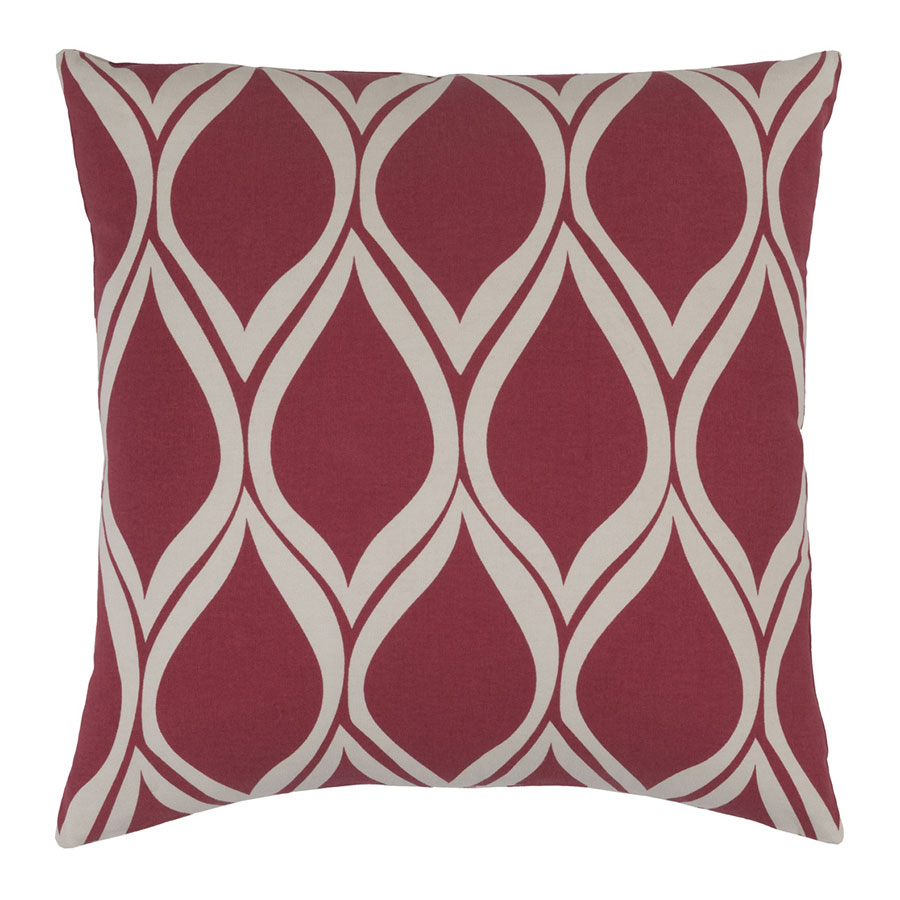 "Scout 22"" Red Modern Pillow"