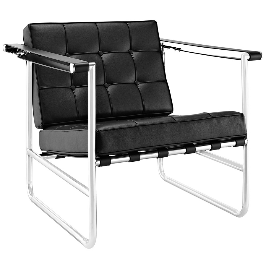 Seine Modern Black Lounge Chair