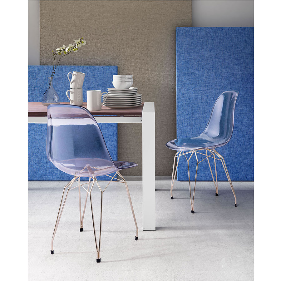 Selig Clear + Gold Modern Dining Side Chair