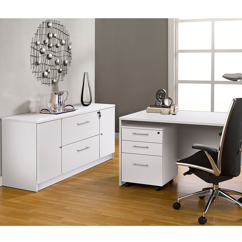 Series 100 Modern White Credenza Eurway Furniture