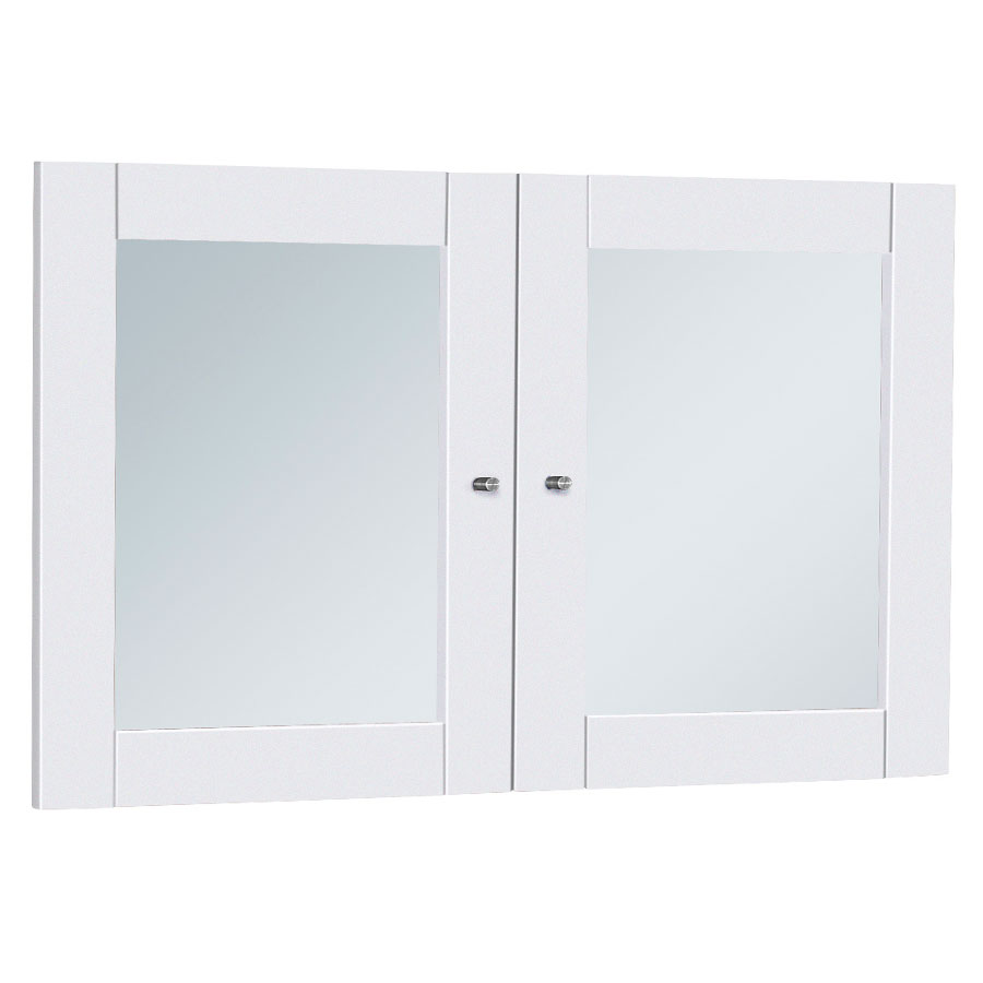 Series 100 White Glass Bookcase + Hutch Doors