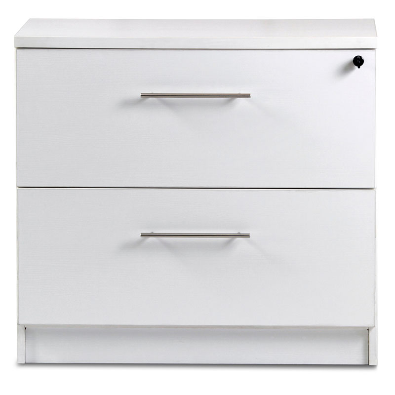 Series 100 Modern White Lateral File Cabinet