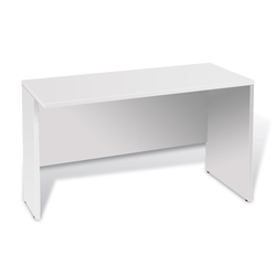 Series 100 Medium Modern White Laminate Desk Return