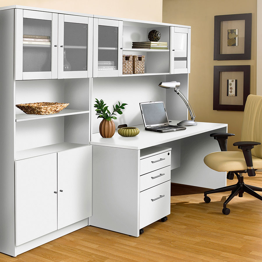 Series 100 Contemporary White Mobile File Cabinet