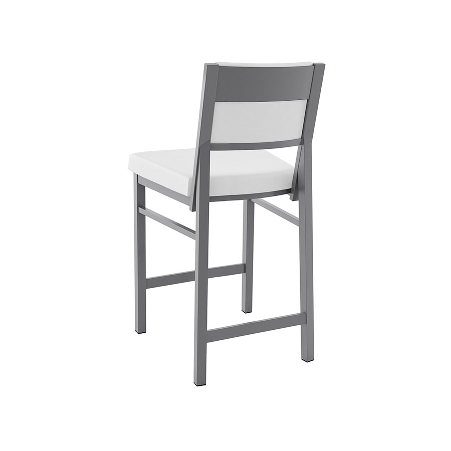 Shadrach Contemporary Counter Stool in Titanium