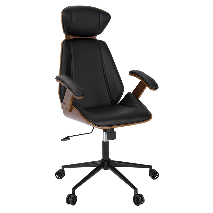 Shalom Black Modern Office Chair