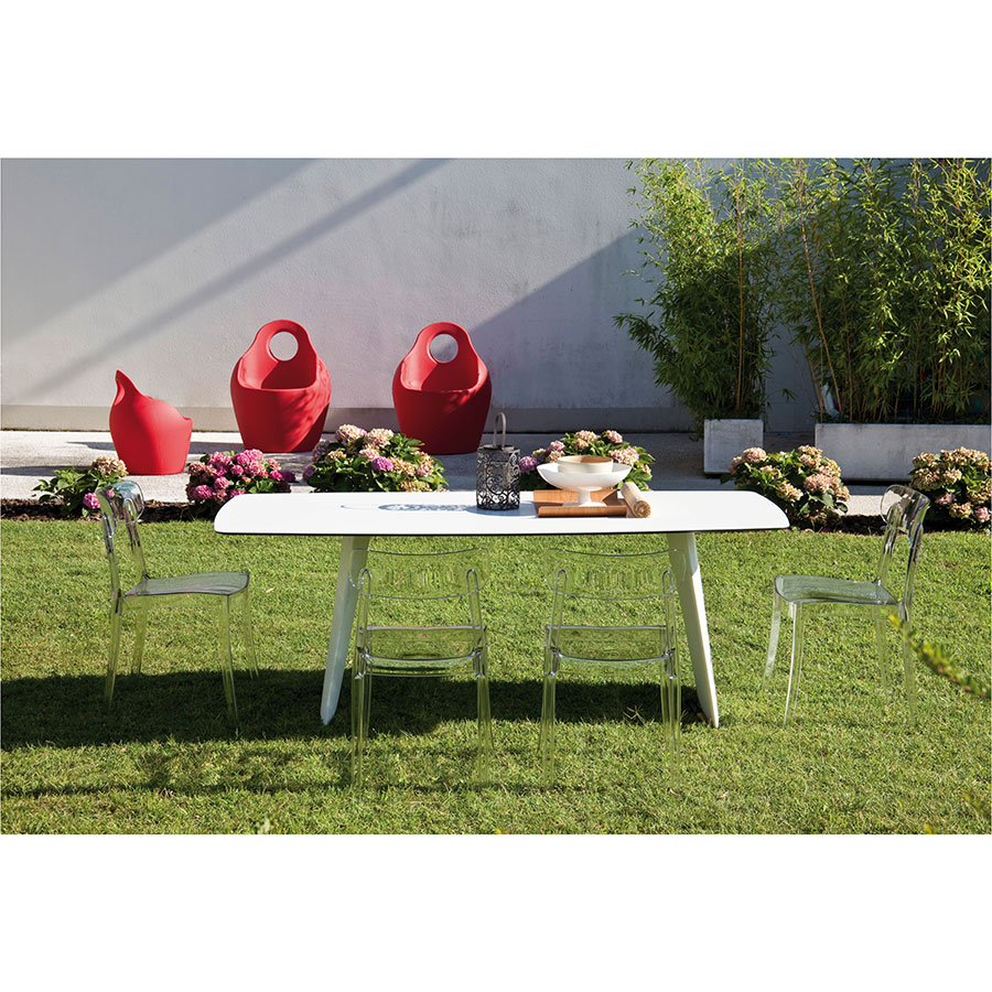 Shannah Outdoor Approved White Modern Dining Table