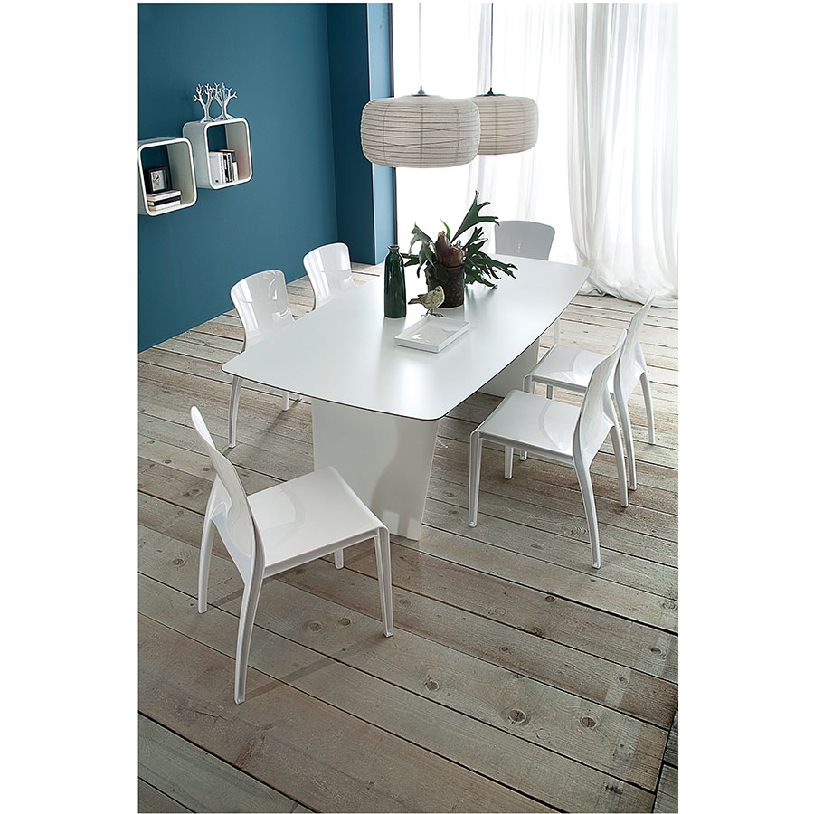 Shannah White Contemporary Dining Table