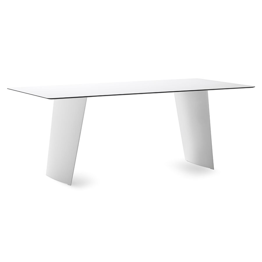 Shannah White Modern Dining Table