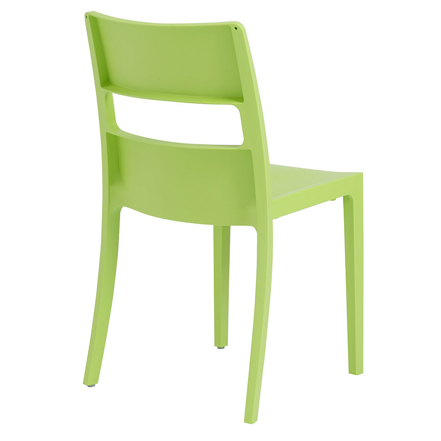Shannon Modern Dining Chair in Green - Back View