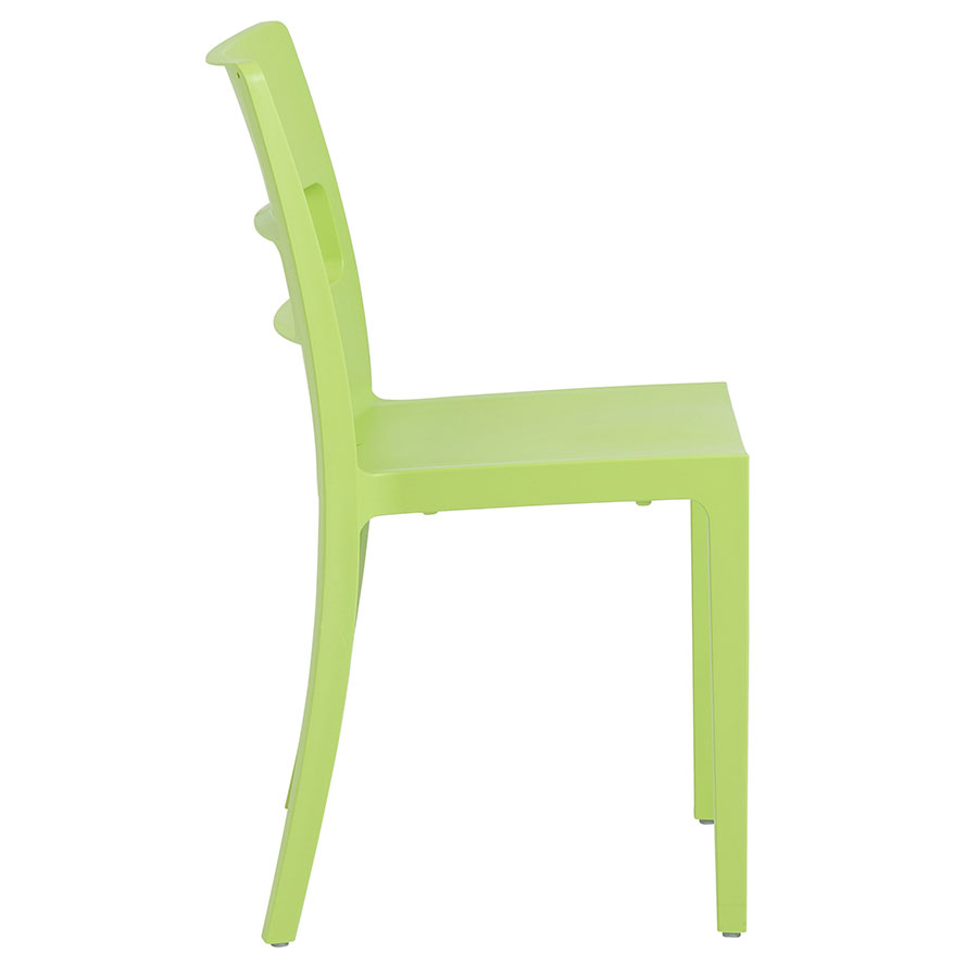 Shannon Modern Dining Chair in Green - Side View