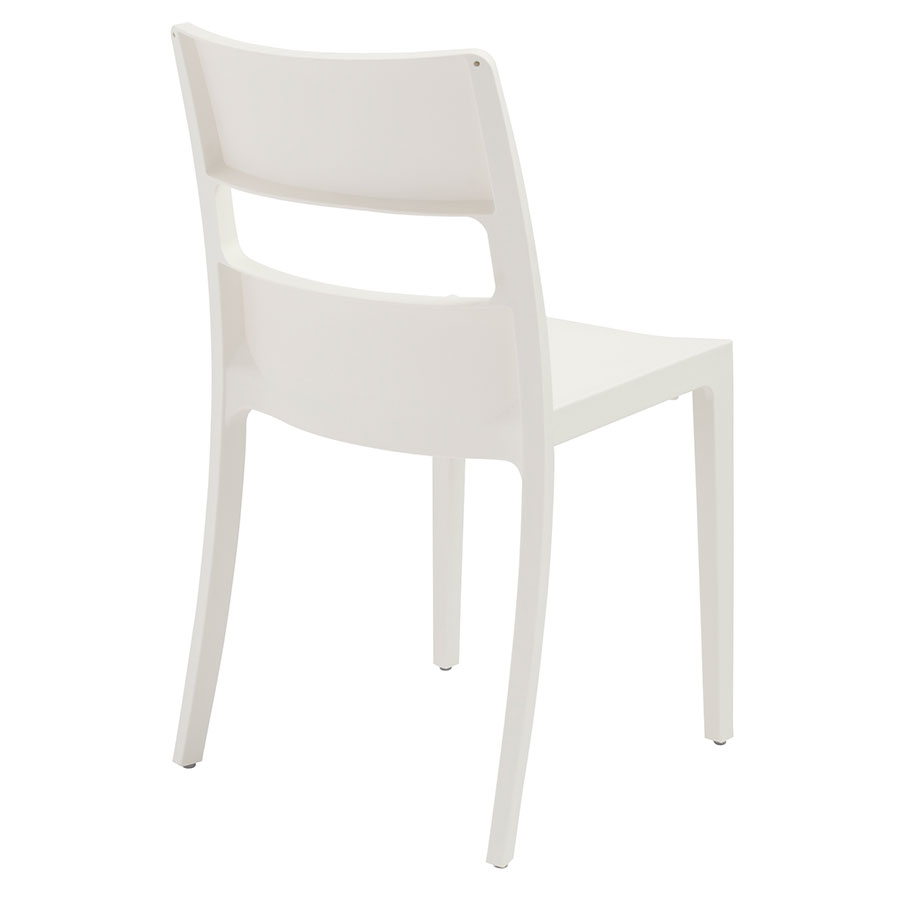 Shannon Modern Dining Chair in Linen - Back View
