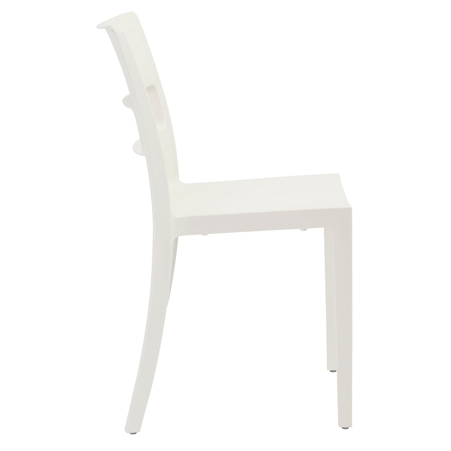 Shannon Modern Dining Chair in Linen - Side View
