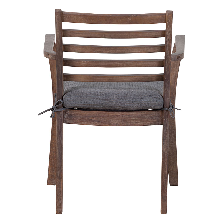 Sharise Contemporary Walnut Outdoor Arm Chair
