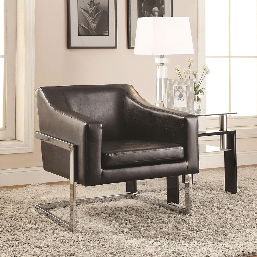 Shaw Contemporary Lounge Chair in Black