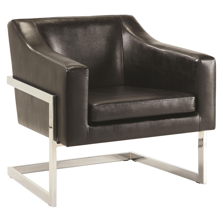 Shaw Modern Lounge Chair in Black