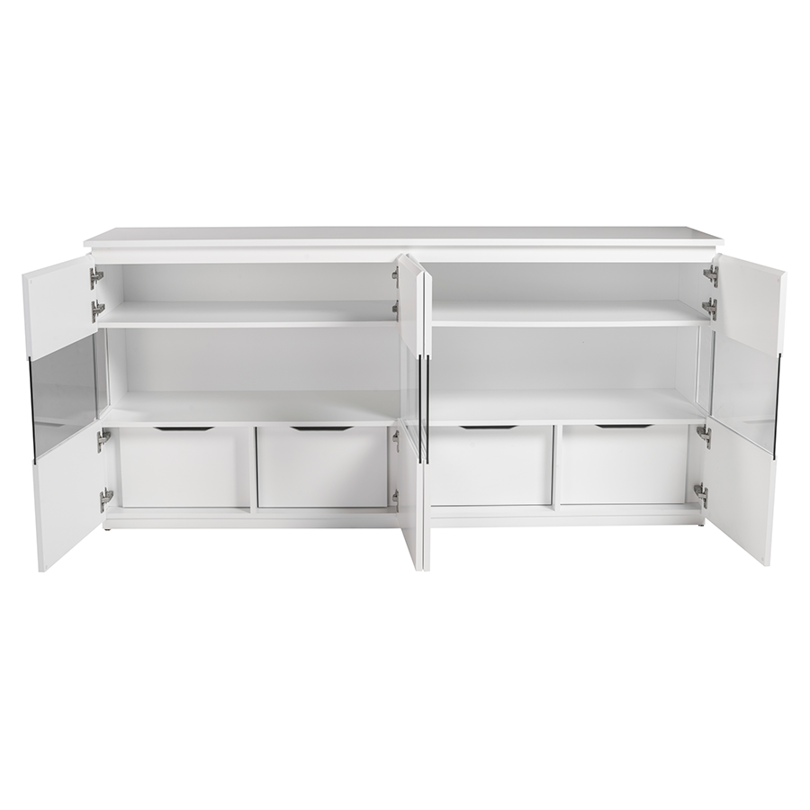 Shaw Matte White Contemporary Buffet
