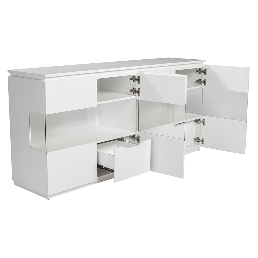 Shaw Matte White Contemporary Sideboard