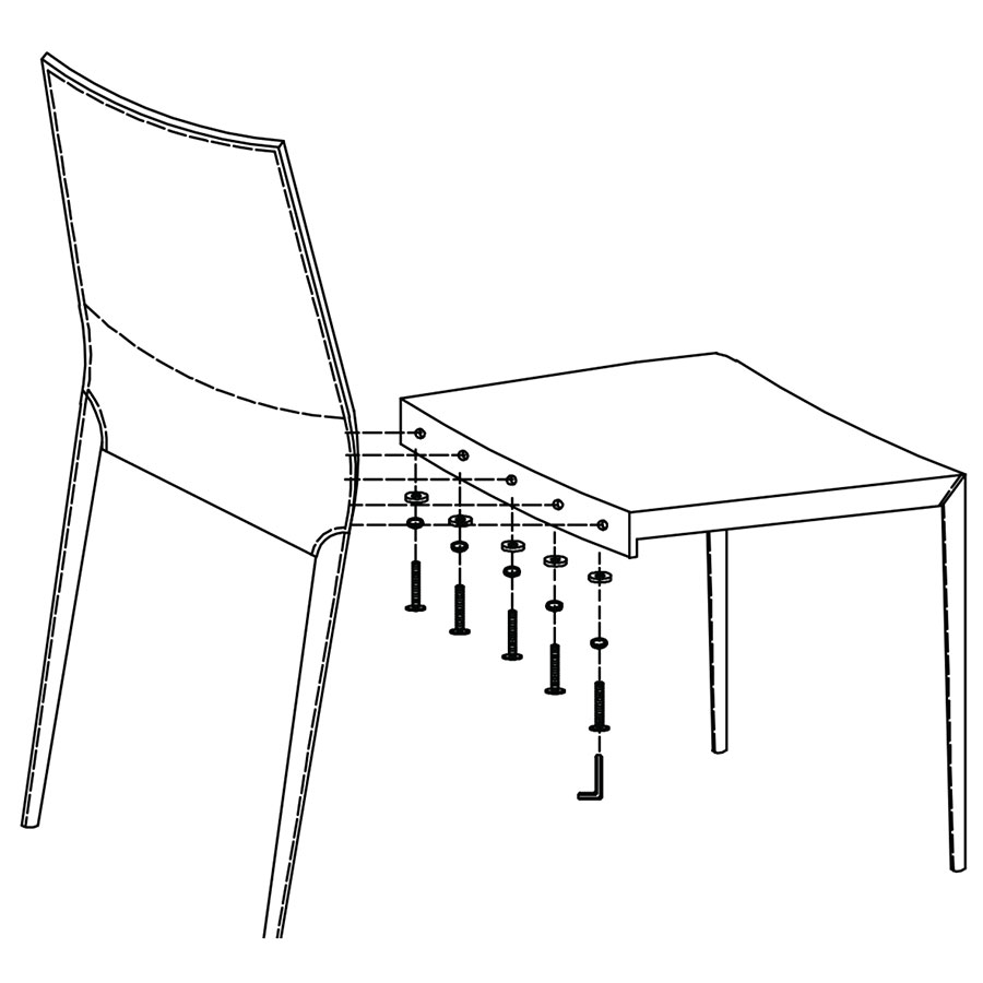 Shelton Modern Dining Chair Assembly