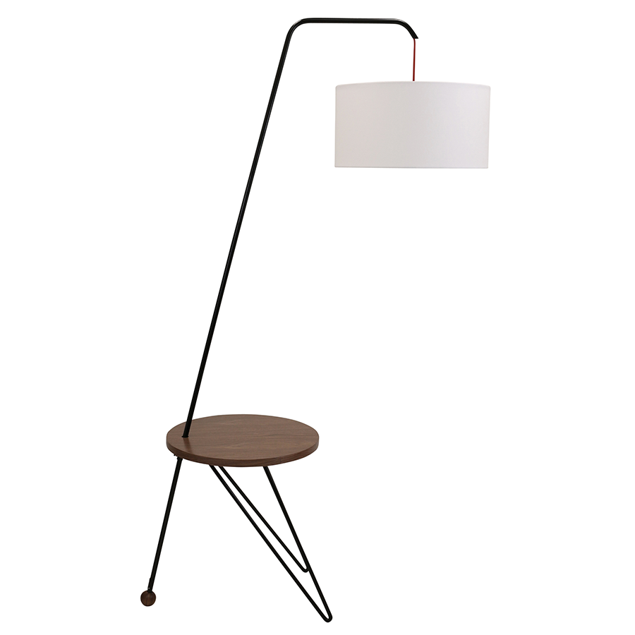 Shura Contemporary Floor Lamp + Side Table