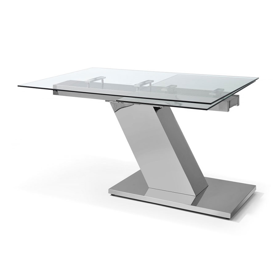 Simpson Modern Glass Extension Table