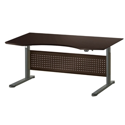 "Sit-Stand Adjustable 63"" Modern Desk in Espresso"