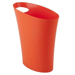 Modern Orange Skinny Waste Can
