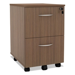 Skye Modern Walnut 2 Drawer Mobile File Cabinet