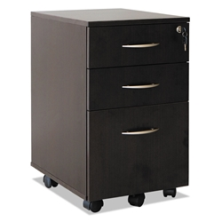 Skye Modern Espresso 3 Drawer Mobile File Cabinet