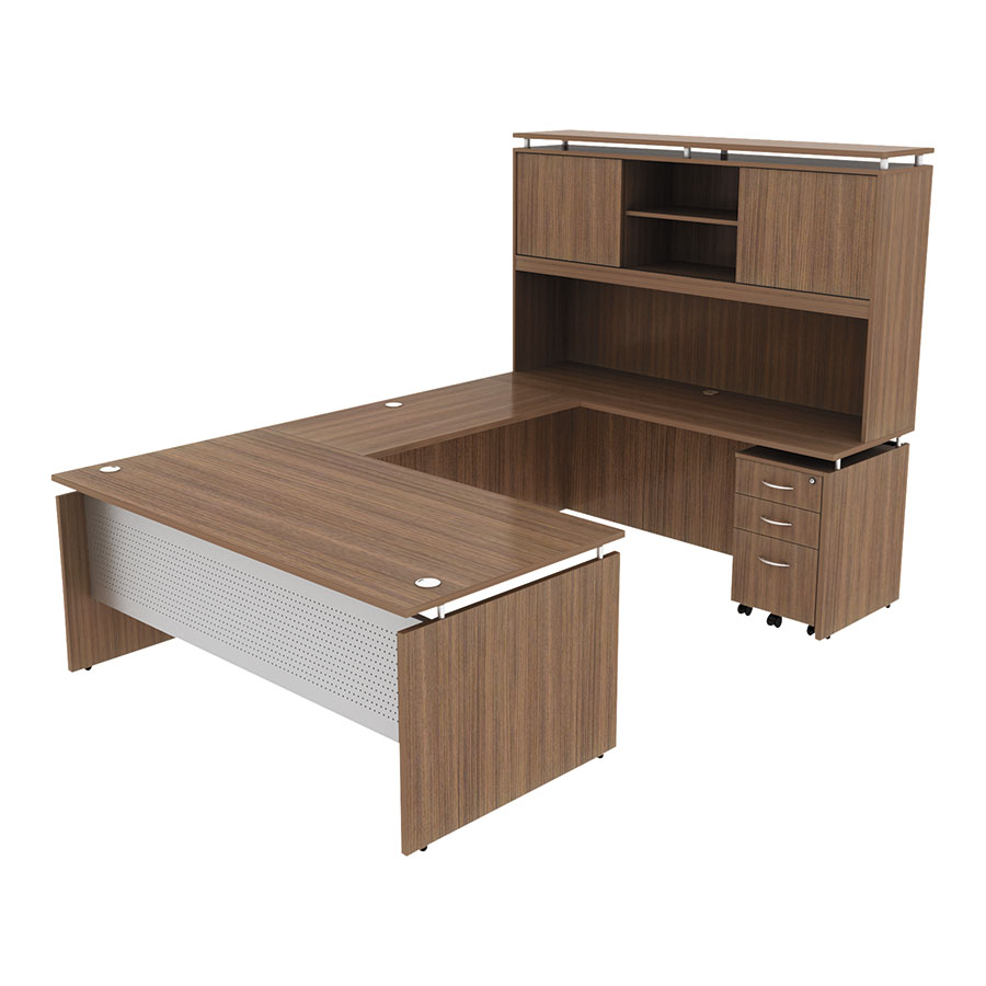 Skye 72 Inch Modern Walnut Desk Collection