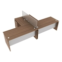 Modern Desks Skye Walnut 66 Inch Desk Eurway