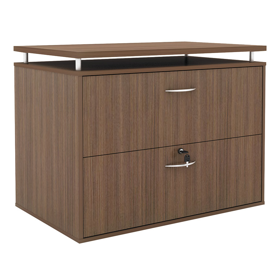 Skye Modern Walnut Lateral File Cabinet