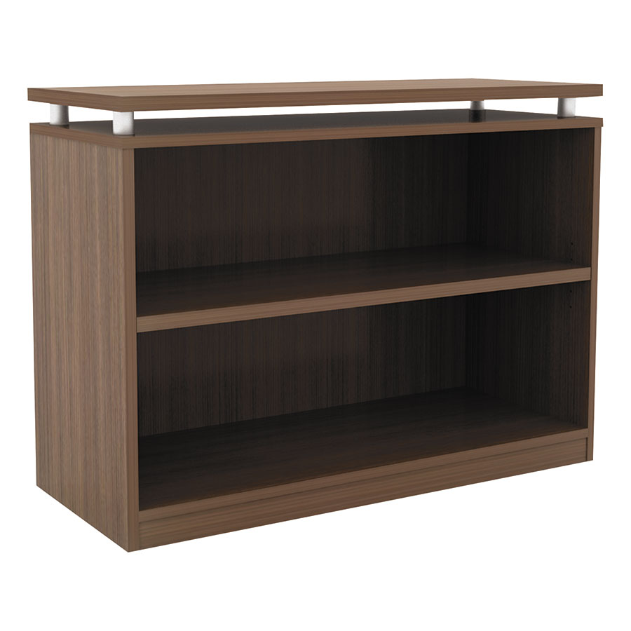 Skye Modern Walnut Low Bookcase