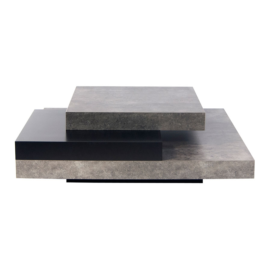 Slate Concrete Contemporary Coffee Table Front
