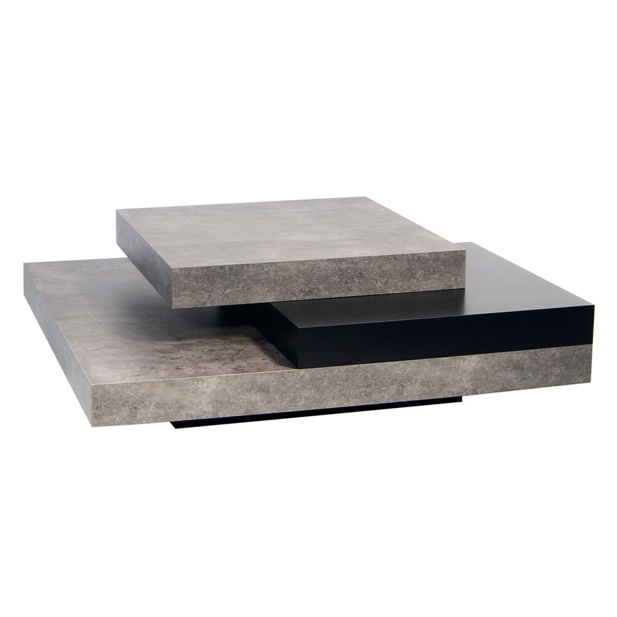 Slate Concrete Contemporary Coffee Table