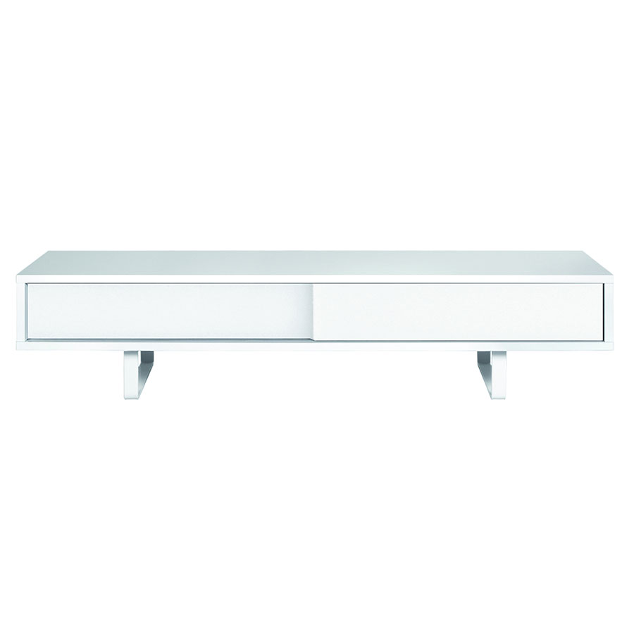 Slide White Contemporary TV Stand