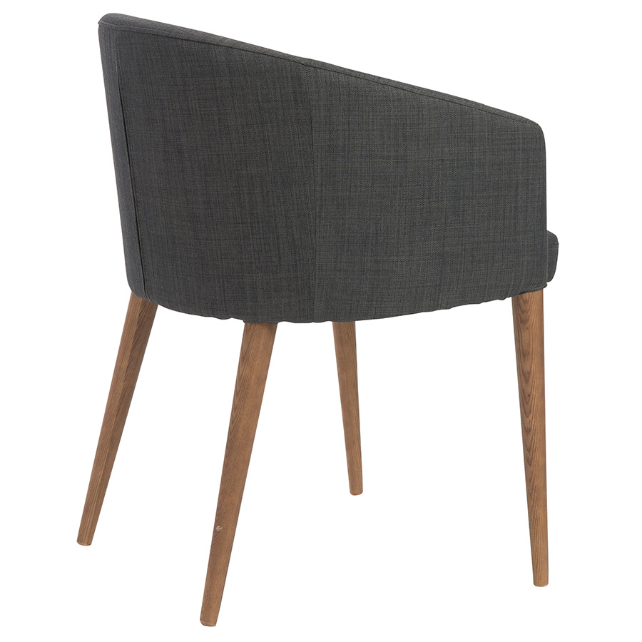 Sonoma Modern Charcoal Dining Chair - Back View