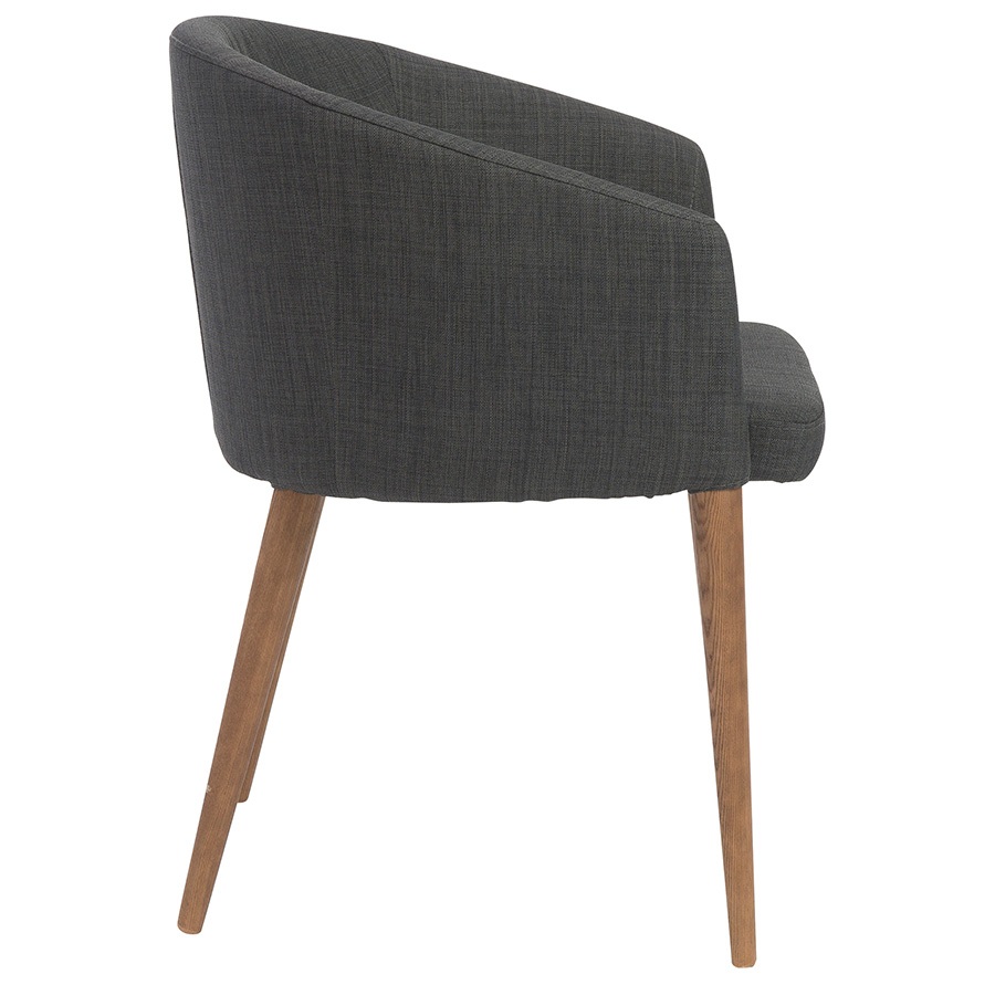 Sonoma Modern Charcoal Dining Chair - Side View