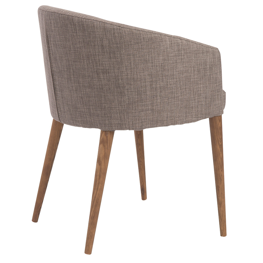 Sonoma Modern Gray Dining Chair - Back View