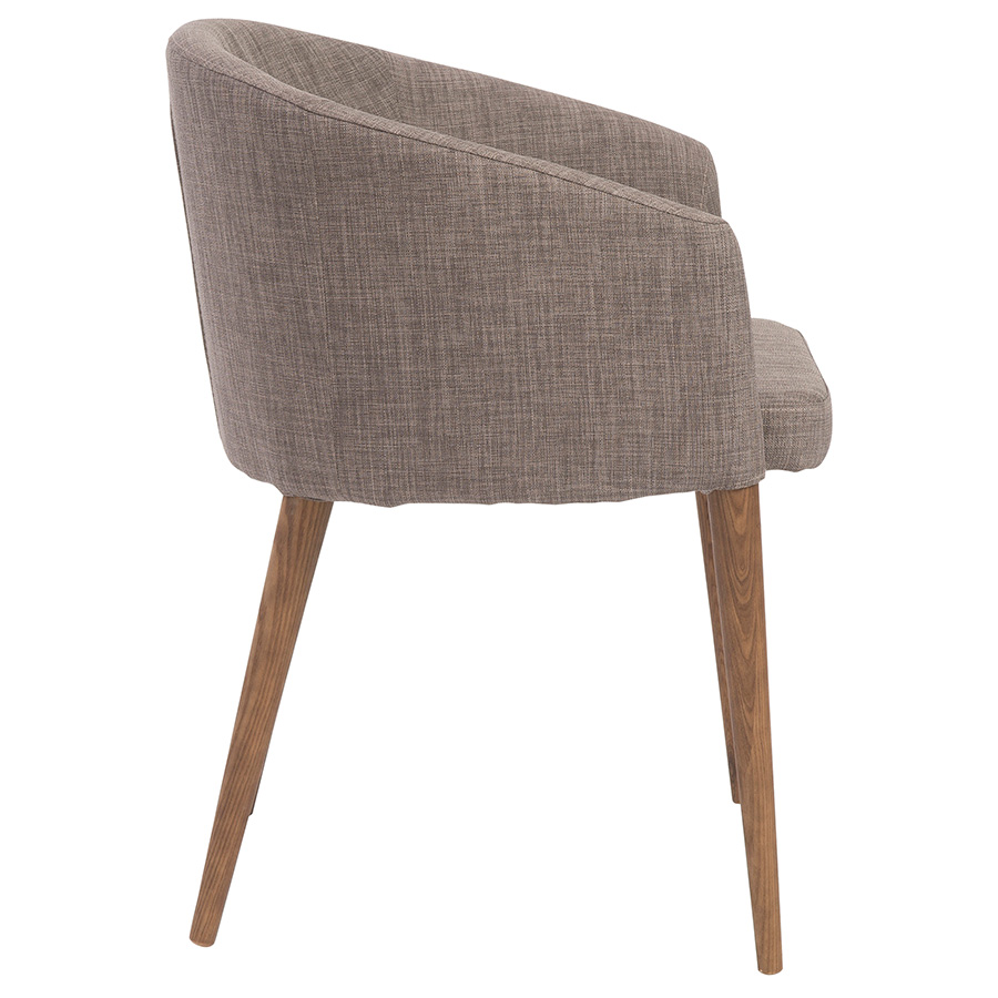 Sonoma Modern Gray Dining Chair - Side View