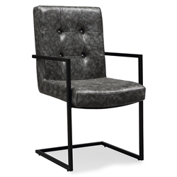 Spade Gray Modern Dining Arm Chair