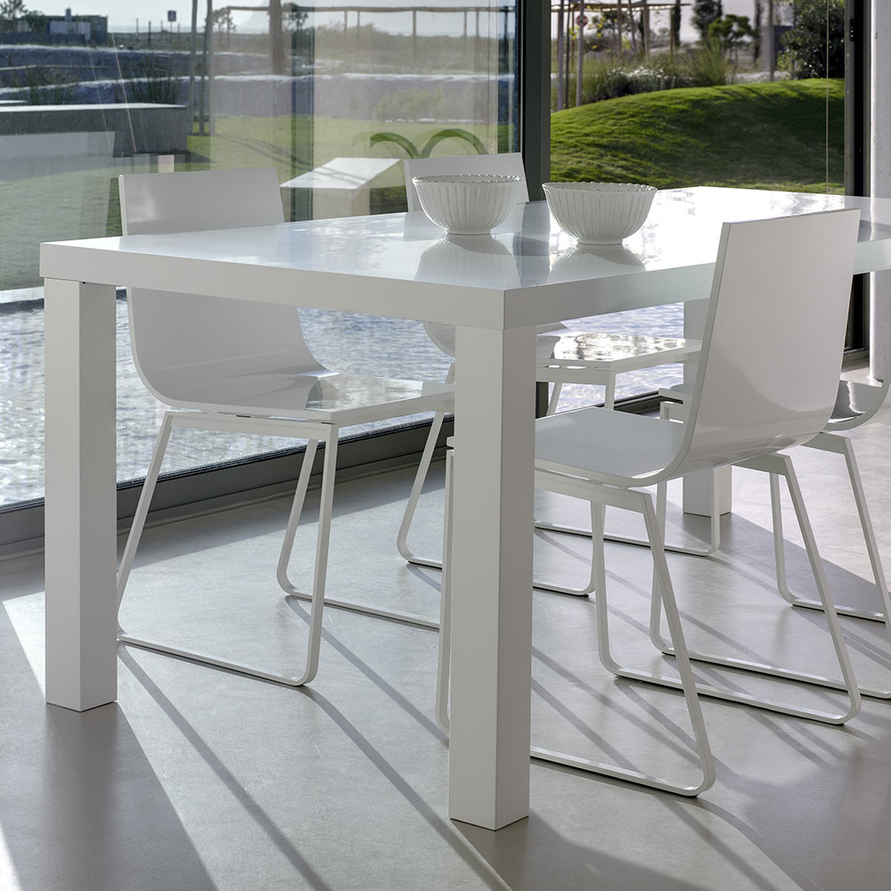 Multi Large Dining Table in White