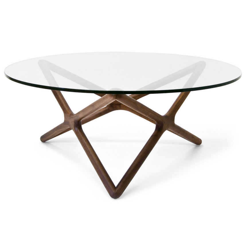 Sparta Modern Walnut Cocktail Table