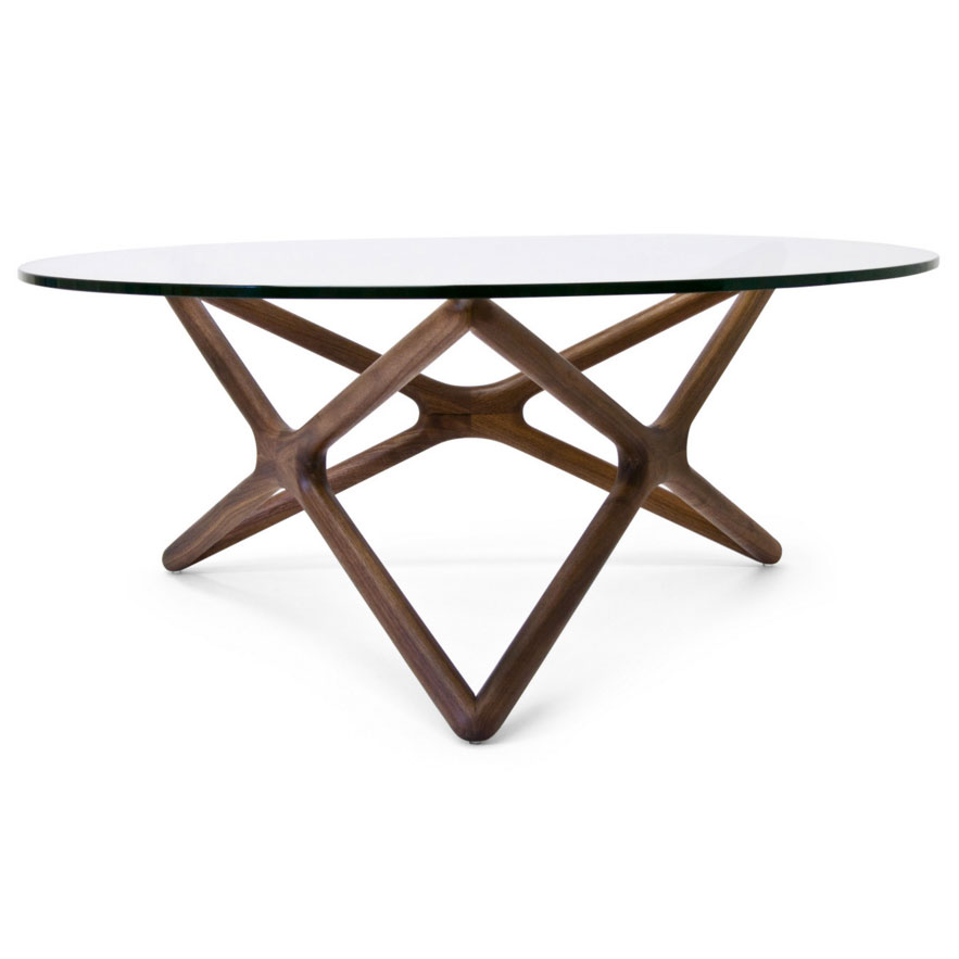 Sparta Solid American Walnut Modern Coffee Table