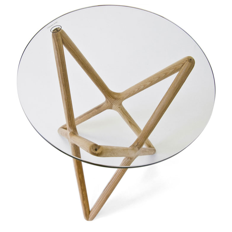Sparta Modern Ash Side Table